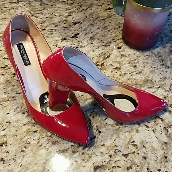Marina Rinaldi Shoes - Red leather heels